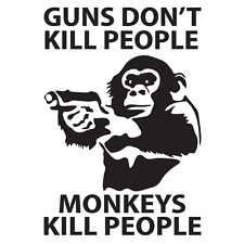 "Guns Don't Kill People,  Vinyl Decal ""Sticker"" For Car or Truck Windows, Laptops"