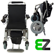 EZ Lite Cruiser Deluxe Slim SX12 Light Folding Electric Wheelchair 15 Ah Battery