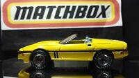 Matchbox Premiere 1987 Corvette Convertible YELLOW Body Toy Model Car