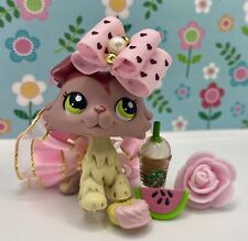 Authentic Littlest Pet Shop # 1723 Pink Plum Cream Collie Green Eyes