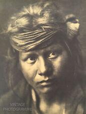 1900/72 Vintage Matted EDWARD CURTIS Native American Indian Navajo Boy 16X12