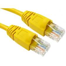 0.5m RJ45 Snagless Cat5e Ethernet Network Patch Cable Lead 24AWG UTP YELLOW