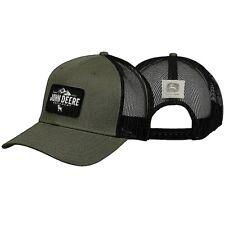 JOHN DEERE BLACK OLIVE EQUIPMENT PATCH TRUCKERS PUNK EMO HAT CAP