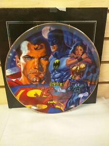 Justice League Warner Bros Store Studio Gallery Collector Plate Batman Superman