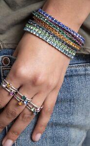 Touchstone Crystal by Swarovski stretch crystal bracelet Amethyst February