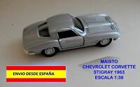 CORVETTE STINGRAY 1963 ESCALA 1:38 MAISTO MINIATURAS COCHES MAQUETAS DIORAMAS