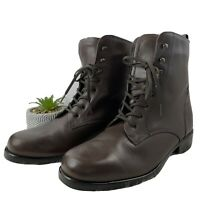 Santana Canada Womens Brown Leather Lace Up Combat Boots Size 6