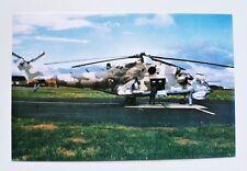 Polish Air Force MI-24 D Postcard