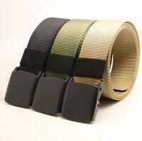 UK Men Tactical Military Outdoor Combat Nylon Canvas Belt Buckle Strap Waistband