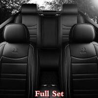 Black PU Leather 5D Full Coverage Car Seat Cover Cushions Interior Accessories