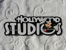 DISNEY HOLLYWOOD STUDIOS Die Cut Title - Scrapbook Pages Paper Piece - SSFFDeb