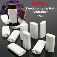 10pcs White Empty Lip Balm e Portable Deodorant Containers Lipstick Lip  A