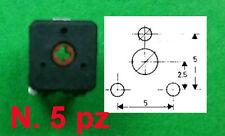 Trimmer Carbone 470 ohm ISKRA 14x14 Regolazione Orizzontale n.5 pz