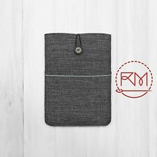 Padded Cover Sleeve Pouch for iPad mini 2 Grey and Blue Cotton