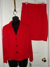 NWT LOIS SNYDER DANI MAX $120 Red Career Skirt Suit Blazer Petite Womens 14P