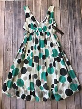 Polka Dot Dress M L 6 8 10 Hazel Boutique Retro Mod Print Bubble Hem Skirt New