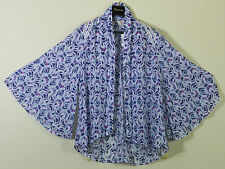 Brand New Tags  Sienna Kimono Jacket Cosmic Blue Multi Color from G by GUESS M L