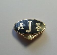 AJS BIKER ENAMEL LAPEL PIN BADGE