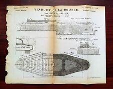1873 Viaduct La Bouble Engineering Diagram Orleans Railroad Foundation of Pier
