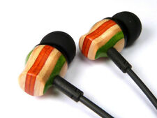 RECYCLED SKATEBOARD Wooden Earphones High Quality Cool Wood Bass Beats Music UK