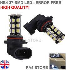2x HB4 27-SMD LED ULTRA BRIGHT White CANBUS Car Bulb Fog Light DRL 12V 9006 UK