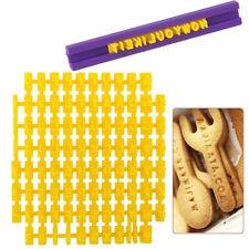DIY Alphabet Letter Number Cookie Stamp Cutter Embosser Cake Pastry Mould Tools