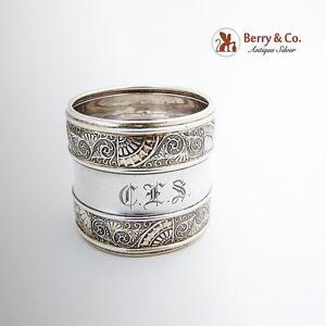 Aesthetic Ornate Napkin Ring Monogram Gorham Sterling Silver