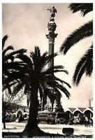 Monumento a Colon Entre Palmeras Postcard RPPC w/ 1955 Italy Sestina Mail Stamp