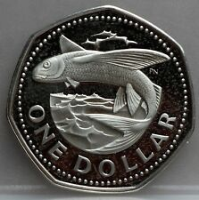 Barbados - 1 one dollar 1974 Flying Fish - KM# 14.1 - Very nice!