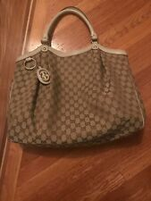 Gucci Large sukey Beige With Leather Trim Shoulder Bag - In Mint Condition.