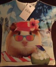 BNWT GREAT LITTLE GIRL'S TSHIRT TOP, GUINEA PIG, AGE 12-18 Months