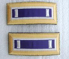 ARMY SHOULDER BOARDS CIVIL AFFAIRS CORPS FIRST LIEUTENANT - PAIR (2) MALE NIP