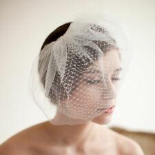 Wedding Headdress Bridal Net Birdcage Face Veil Fascinator Hair Comb CostumeGO9
