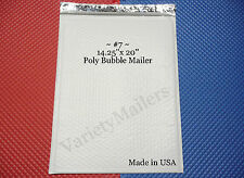 "9 EXTRA LARGE POLY BUBBLE POSTAL MAILING ENVELOPES #7 14.25"" x 20""  MADE IN USA!"