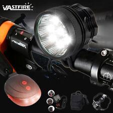 50000LM 9x XML T6 LED Bike Bicycle Lamp Head Light Headlamp W/Battery 6x18650
