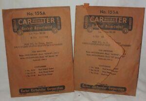 NOS Vintage Carter Carburetor Gasket Assortment No.155A GM 1333134 Buick 1941 42