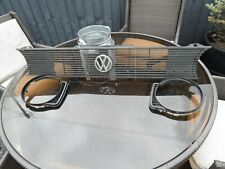 VW GOLF MK1 FRONT HEADLIGHT GRILL & BADGE & CORNER PIECES * GENUINE VAG * GTI