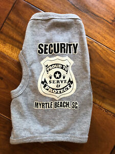 Security Dog Shirt Size M S Gray Myrtle Beach SC Soft Puppy Accessory