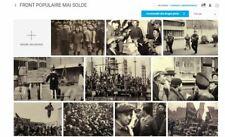 LOT LES 10 PHOTOS LE FRONT POPULAIRE 1936 REPRODUCTIONS