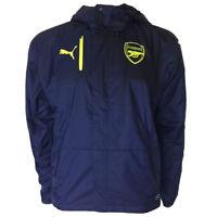 Arsenal FC Puma Mens Blue Football Training Rain Jacket 2016 2017 Size Small