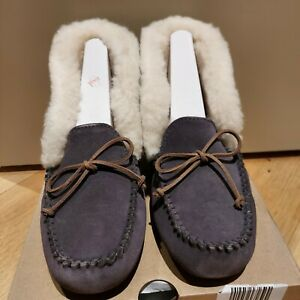 New UGG Women's Alena Leather Slippers. Purple.