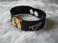 kiTki black Real Madrid football soccer bangle wristband wristlet bracelet o