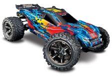 Traxxas Rustler 4x4 VXL Chassis 1:10 Roller ohne Elektronik mit Karo und Reifen