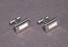 BACHRACH Cufflinks Cuff Links - Diamond Bar - BRAND NEW