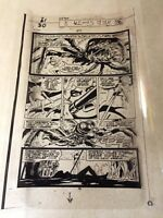 RED SONJA #3 ACETATE ART PAGE 1977, BATTLES GIANT SPIDER, THORNE, AWESOME