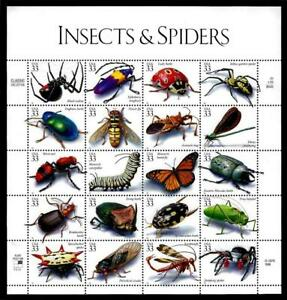 1¢ WONDER'S ~ 1998 MNH SOUVENIR SHEET W/ INSECTS & SPIDERS (FV = $6.60) ~ S13