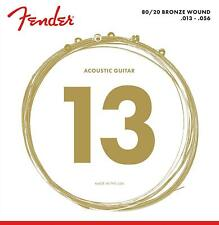 Fender 70m 80/20 Bronze Ball End Acoustic Guitar Strings - .013-.056