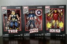 LOT 3 CAPTAIN AMERICA + IRON MAN + THOR Marvel Legends 80th Anniversary Walmart