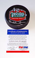 BOBBY ORR BOSTON BRUINS SIGNED 2010 WINTER CLASSIC PUCK PSA COA K38327