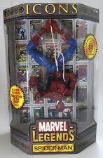"New Sealed ToyBiz Marvel Legends Icons 12"" Spider Man 2006"